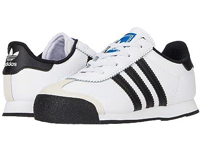 adidas Originals Kids Samoa (Toddler) (Footwear White/Core Black/Blue) Kids Shoes