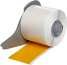 Brady High Adhesion Vinyl Label Tape (M71C-2000-595-YL) - Yellow Vinyl Film - Compatible with BMP71 Label Printer - 50' Length, 2