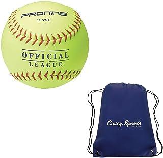 ProNine 11 英寸垒球快速投球室内/室外软芯*球,适用于 10U 练习(多件装),随附 Covey 运动包