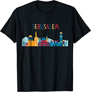 Jerusalem Skyline Souvenir T Shirt Vintage Gift