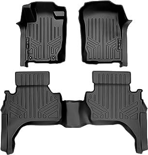 SMARTLINER Custom Fit Floor Mats 2 Row Liner Set Black for 2015-2018 Mitsubishi L200 Crew Cab