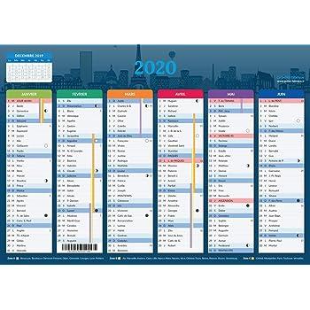 Calendrier 2021   format A4   Papier épais   prévu pour l'écriture