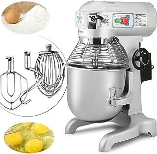 Happybuy Commercial Food Mixer 20qt 750W Dough Mixer Maker 3 Speeds Adjustable Commercial Mixer Grinder 94 165 and 386 RPM Stand Mixer