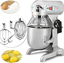 Happybuy Commercial Food Mixer 20qt 750W Dough Mixer Maker 3 Speeds Adjustable Commercial Mixer Grinder 94 165 and 386 RPM Stand Mixer