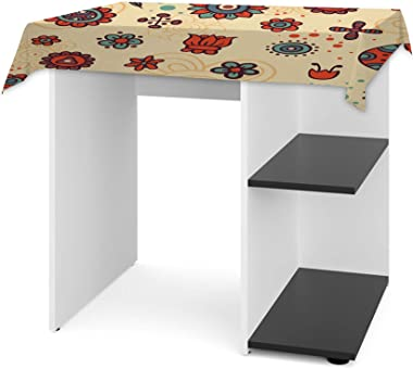 Aart Store Wooden Study Table | Computer Table for Students with Storage Space for Adults