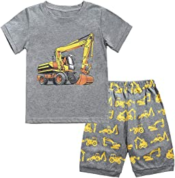 Pyjama Garçon Été Ensemble T-Shirt Manches Courtes