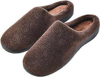 XXYANZI Hiver Homme Maison Pantoufles Grande Taille Chaussons Anti-dérapante Chaussures Doublées en Peluche Chaussures Con...