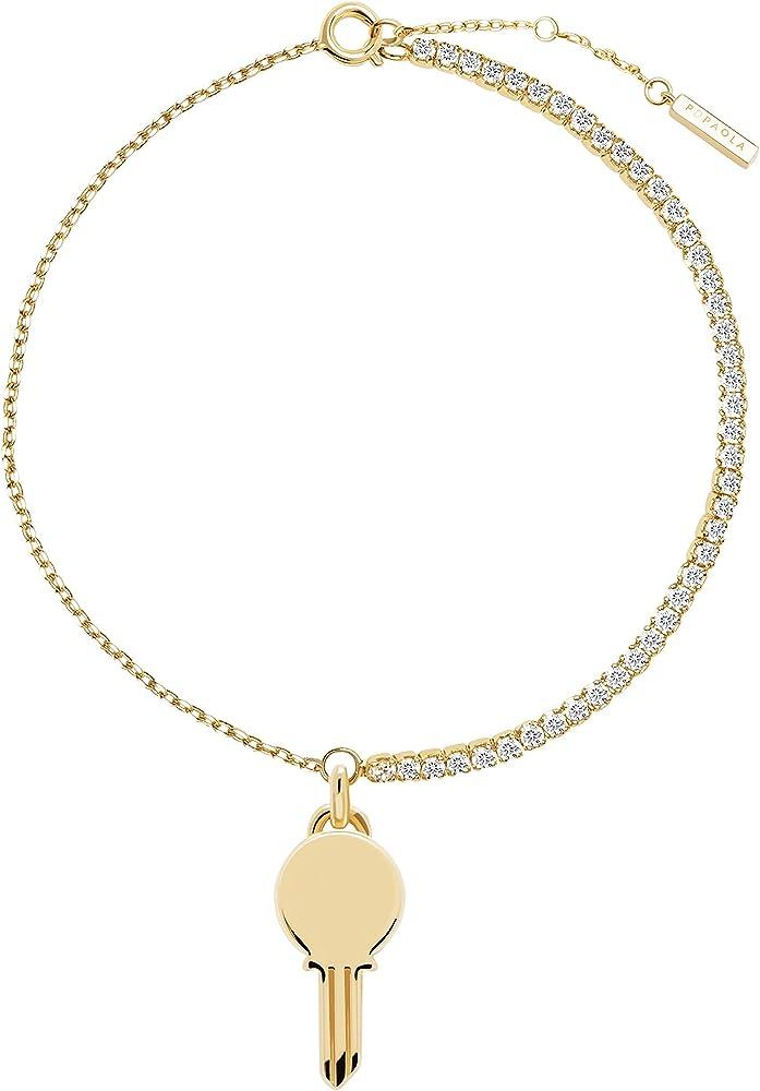 Pdpaola bracciale eternum - argento sterling 925 placcato in oro 18 carati per donna PU01-123-U