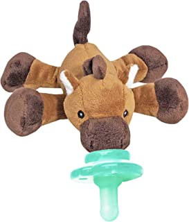Nookums Paci-Plushies Buddies - Horse Pacifier Holder - Adapts to Name Brand Pacifiers, Suitable for All Ages, Plush Toy Includes Detachable Pacifier