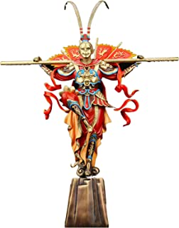 Decorative Ornaments Bronze Monkey Sculpture Hand Painted Monkey King Statue Creative Monkey King returns in triumph Home ...