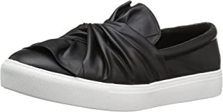 MIA Women's Zoe Fashion Sneaker, Black, 8.5 M US