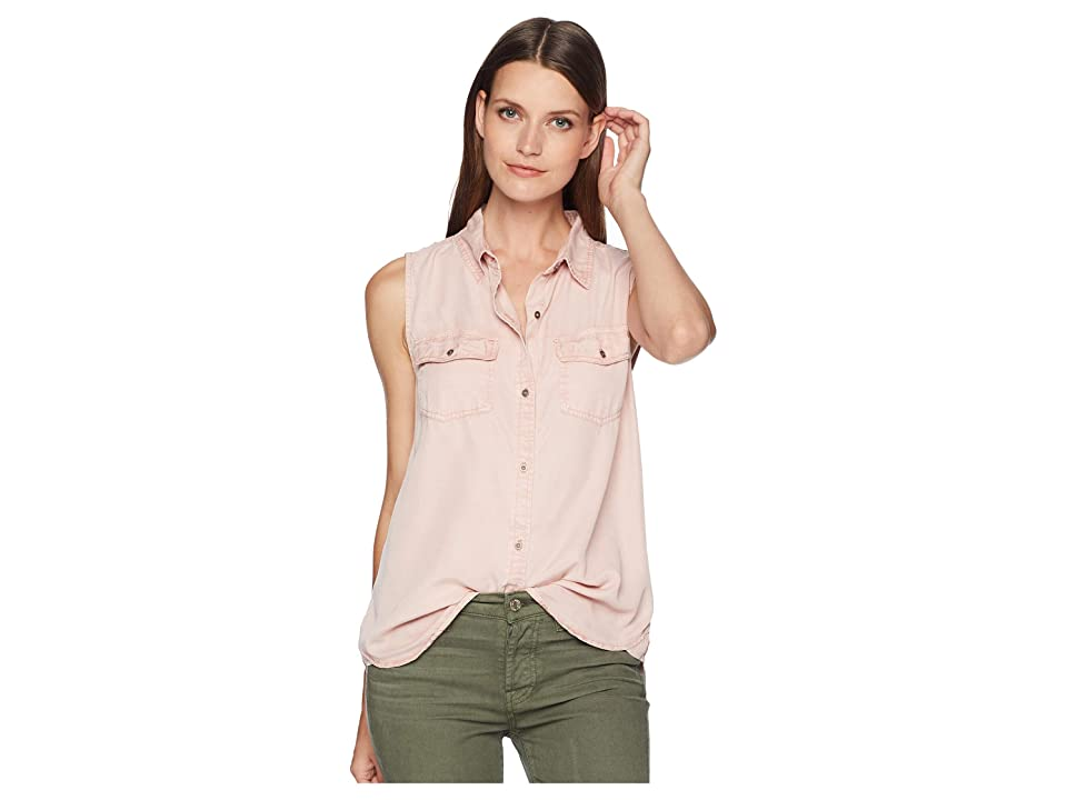 Dylan by True Grit Luxe Laundered Tencel Sleeveless Two-Pocket Shirt (Vintage Pink) Women