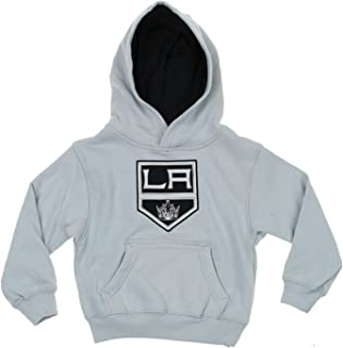 NHL Toddlers Los Angeles Kings Classic Fan Pullover Hoodie, Grey