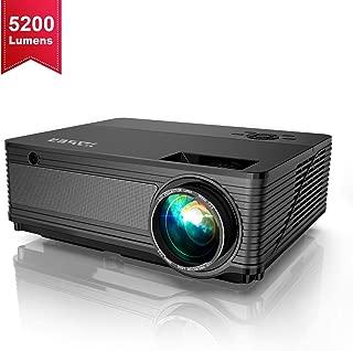 YABER プロジェクター 5200lm 1920×1080リアル解像度 ホームシアタープロジェクター HIFIスピーカー2付き