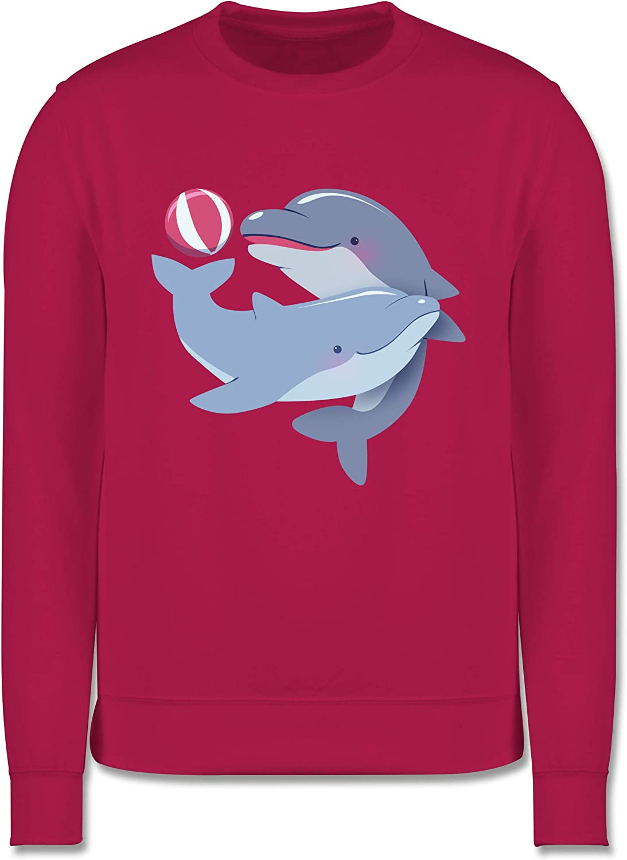 Kinder Pullover Delfine Tiermotive Kind Shirtracer