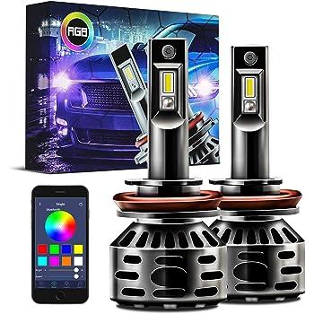 HB3 9005 9011 RGB COLOR CHANGING HEADLIGHT FOG LIGHT WIFI PHONE APP CONTROLLER