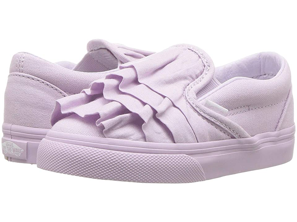 Vans Kids Classic Slip-On (Infant/Toddler) ((Ruffle) Lavender Fog) Girls Shoes