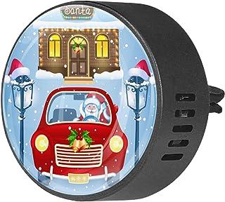 2 pièces diffuseur d'aromathérapie voiture diffuseur d'huile essentielle pince d'aération père noël Vintage lampadaire voi...