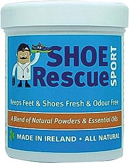 Shoe Rescue Polvos para pies y calzado Elimina el olor de pies 100% natural Contiene aceites esenciales Árbol de Té Eucali...