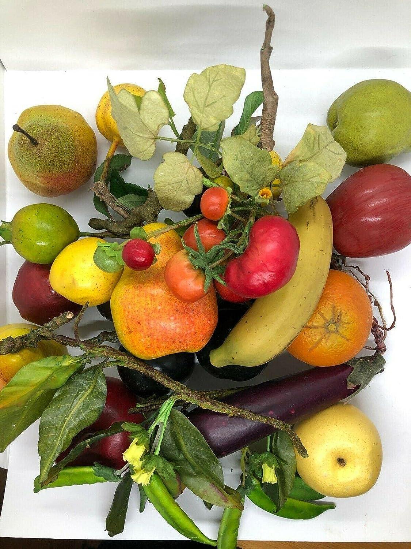 New sales Sacramento Mall Artificial Fruit Veggie Assortment Bowl K for
