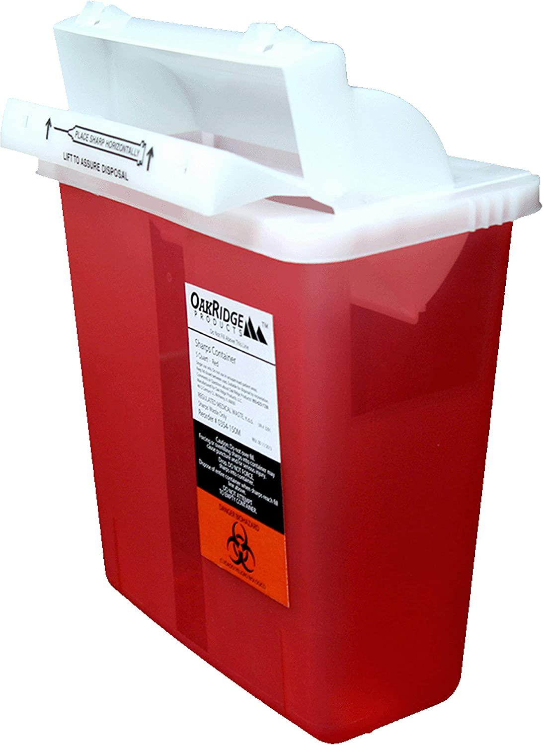 Oakridge 5 Quart Sharps Container 3 Fort Worth Mall B Special price for a limited time lid Mailbox Style Pack
