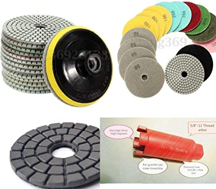 7 Inch 180 MM Diamond Resin Polishing Pad 8 Pieces for stone granite marble concrete travertine DHL or Fedex express delivery time 3-5 working days they work with wet polisher angle grinder sander