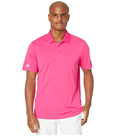 adidas Golf Performance Polo (Solar Pink) Men