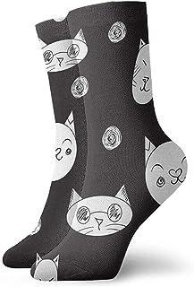 Novedad Divertido Crazy Crew Sock Lovely Cats Impreso Sport Athletic Calcetines 30cm de largo Calcetines personalizados de regalo
