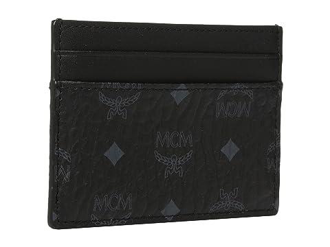 MCM Visetos Original Card Case Black Cheap Sale Explore Pre Order Wholesale Buy For Sale Sale Low Price v1h6X2Ktv