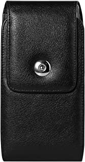Texture 5.7 Inch Swivel Belt Clip Holster Case Compatible for Samsung Galaxy S10+ S9+ S8+ / A20 A30 A50 M30 / A7 A8+ J8 / Motorola One Macro Vision / Z4 / OnePlus 7 / Sony Xperia 5 / BLU Bold N1