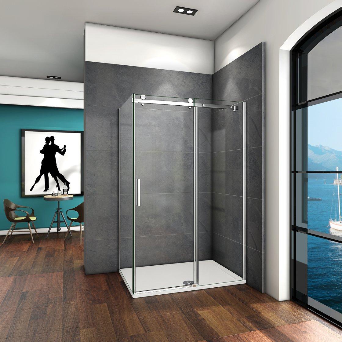 130 x 195 cabinas de ducha Mampara de ducha 6 mm transparente ...
