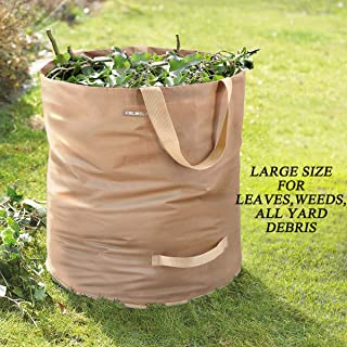 Colwelt 72 Gallons Reusable Leaf Bags, Extra Large Garden Waste Bags, Collapsible Gardening Containers for Gardening Trash