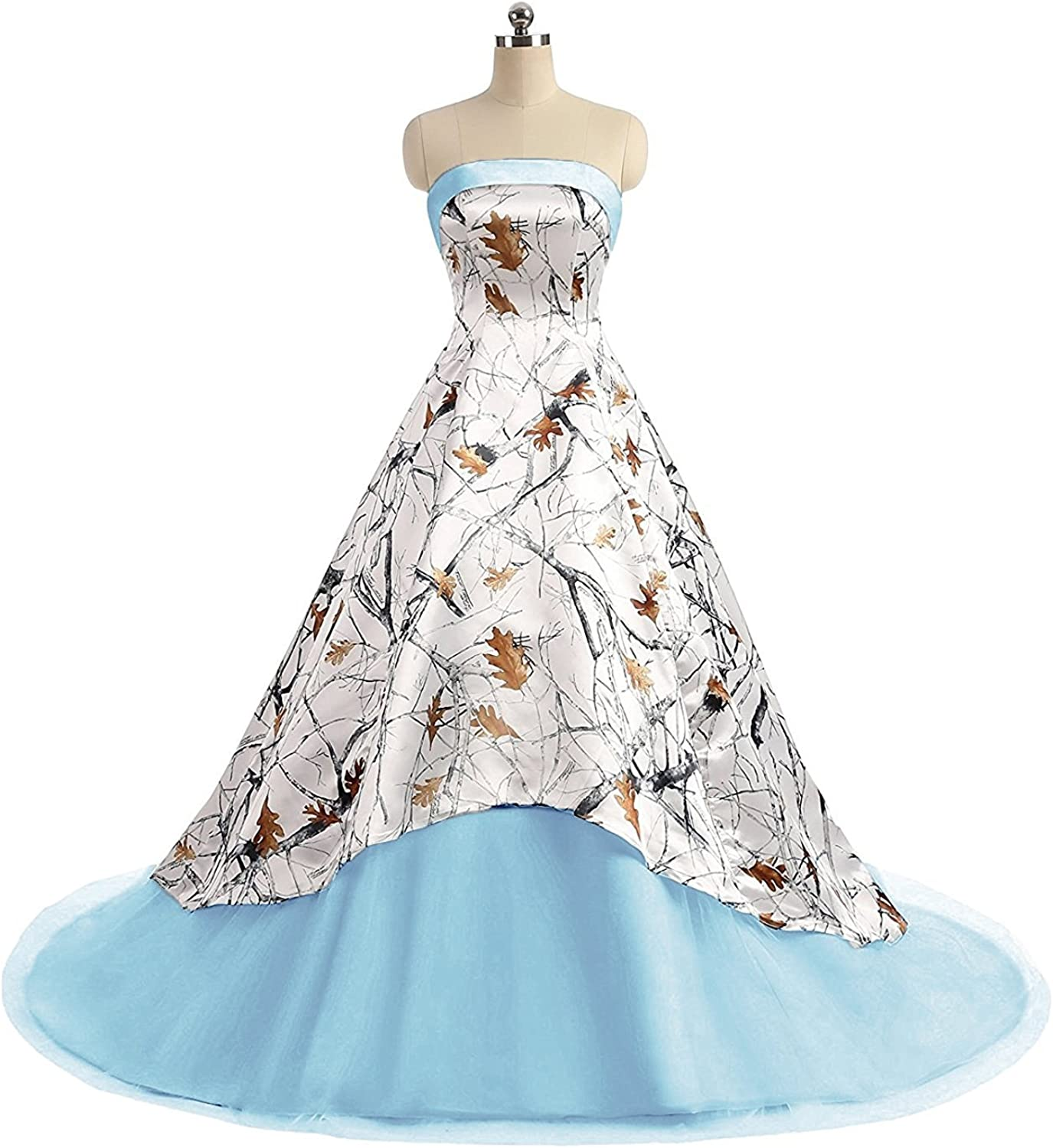 QY Bride Camo High Low Wedding Dresses Ball Quinceanera Gowns