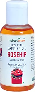 Naturoman 100% Pure & Natural Cold Pressed Rosehip Seed Carrier Oil for Skin Lightening, Pigmentation, Stretch Marks, Acne Scars, Wrinkles, Aging - (30 ML)