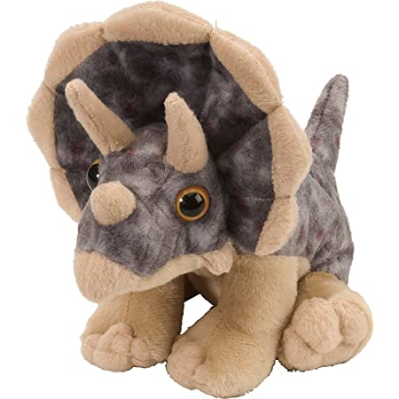 "Wild Republic 10893 Triceratops Plush, Dinosaur Stuffed Animal, Gifts for Kids, Cuddlekins 8"""