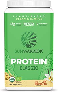 SUNWARRIOR Organic Brown Rice Protein Vanilla, 26.45 Ounce
