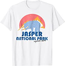 Vintage Jasper National Park Retro T-shirt Alberta