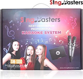 Magic Sing SingMasters Tagalog Portable Karaoke System,Dual wireless Microphones,YouTube Compatible,HDMI,Song recording,5300 Filipino & 13K English songs