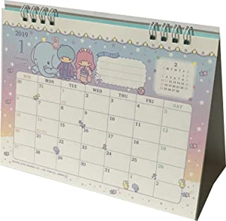 Sanrio Little Twin Stars Desk Ring Japanese Calendar 2019 Year 12 Month Japan (Type-A)