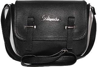 فكريا حقيبة للنساء-اسود - حقائب طويلة تمر بالجسم