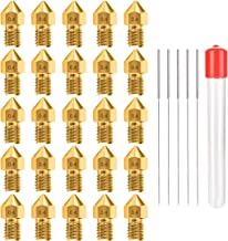 Sponsored Ad - 0.4MM MK8 Ender 3 Nozzles 25 pcs 3D Printer Brass Nozzles Extruder for Makerbot Creality CR-10 with 5 Needl...