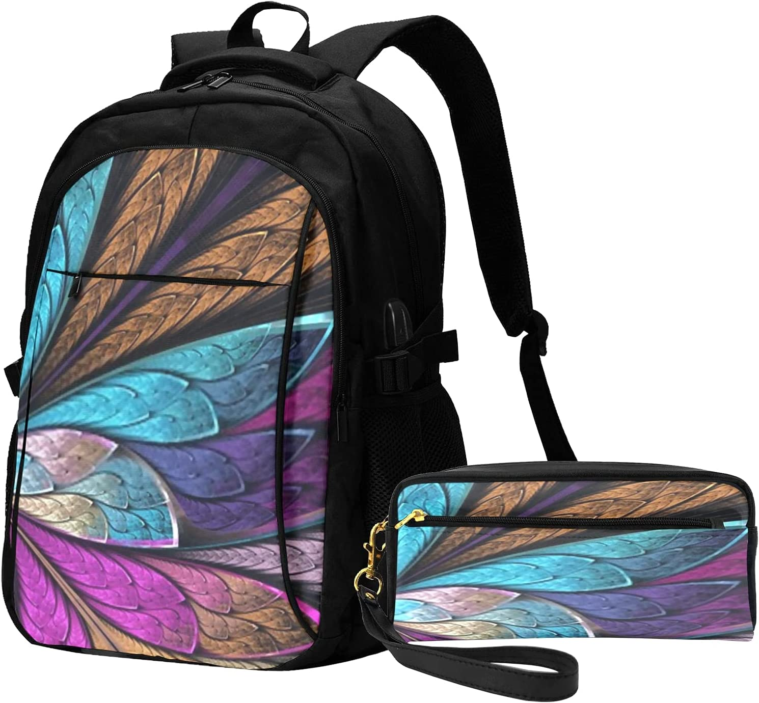 Over item handling Tampa Mall Backpack With Usb Charging Headphone Double Port Zipper Schoo