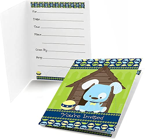 Boy Puppy Dog Fill-in Party Invitations (8 count)