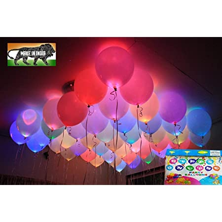 Jiada LED Balloons for Party Festival Celebrations (Set of 25) for Party Decorations Latex