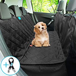 Dog Backseat Hammock Seat Cover Style 2 in 1 Durable, Wateproof, car back seat cover Non slip rubber backing with anchors Washable for trucks cars suv's seat belt leash INCLUDED