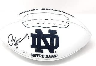 Paul Hornung Notre Dame Fighting Irish Signed Autograph Embroidered Logo Football Hornung GTSM Player Hologram