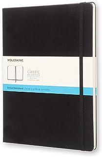 Moleskine Classic Hard Cover Notebook - Dot Grid - Extra Large - Black, (QP093)