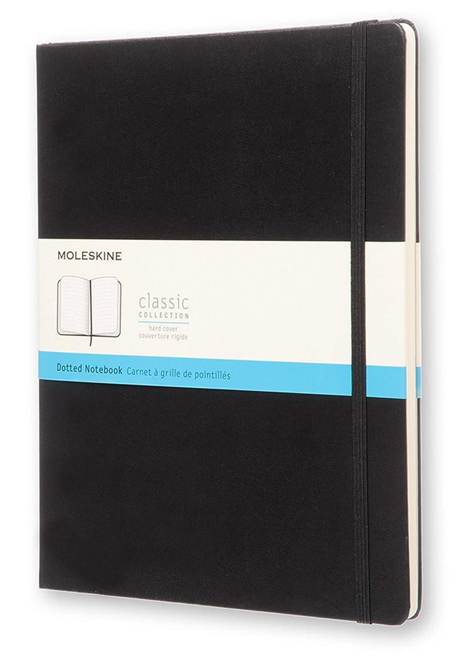 変な大声でマイルドMoleskine Classic Notebook, Extra Large, Dotted, Black, Hard Cover (7.5 x 10)