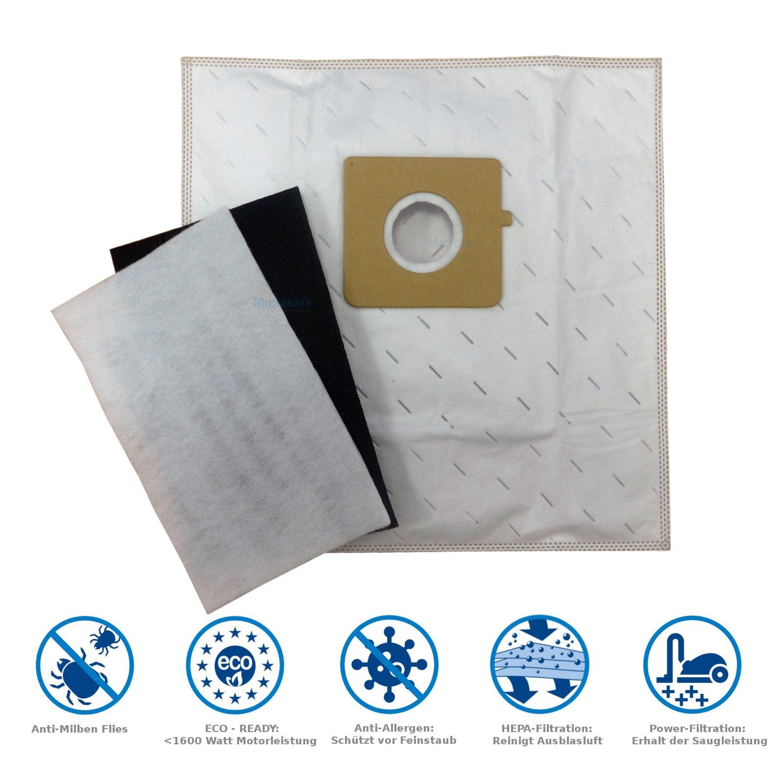 10 bolsas para aspiradora Rowenta City Space RO2423, RO2441, RO2451 WA, incluye 2 filtros, como original ZR0039 de MicroSafe® 10 Beutel inkl. 2 Filter: Amazon.es: Hogar