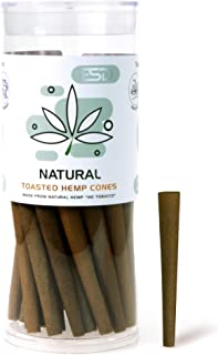 Cyclones Natural Flavored Pre Rolled Hemp Wraps | 50 Pack | Natural Organic Prerolled Wraps with Packing Sticks Included for Efficiency